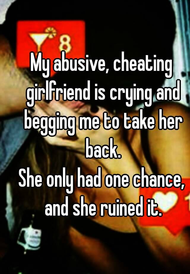 My wife cheated on me should i take her back