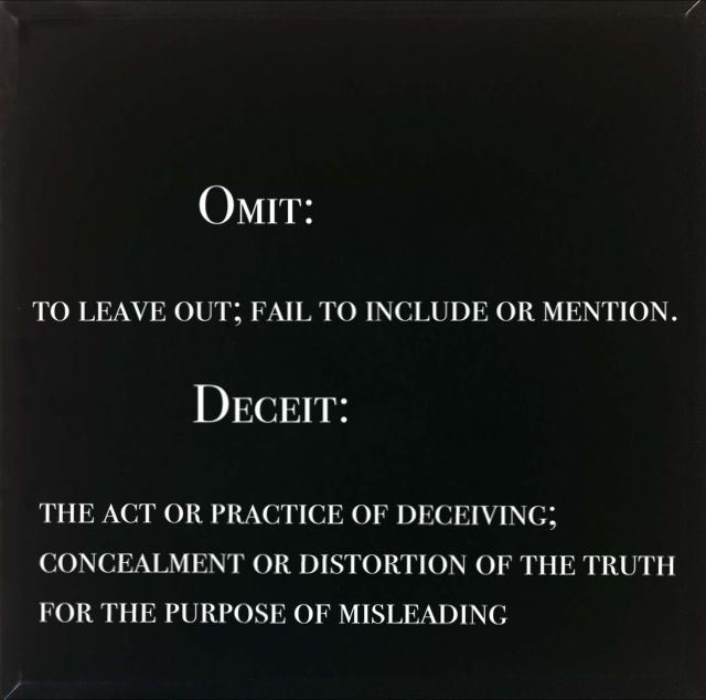 Lying by omission examples