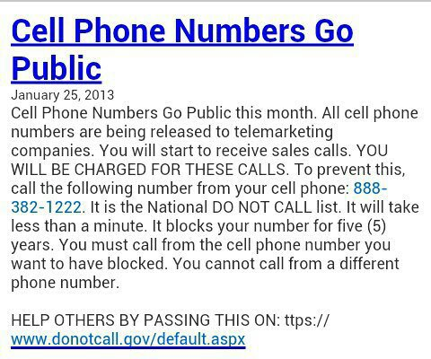 Cell phone numbers go public