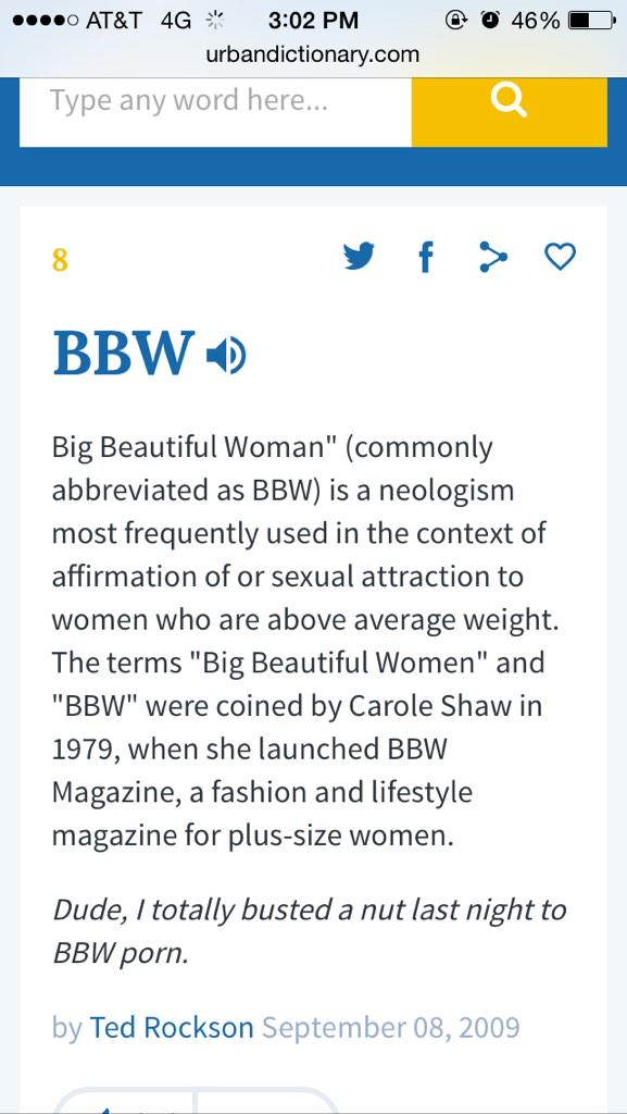 What is bbw mean