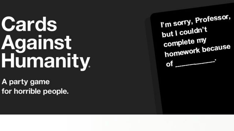 Sex game cards against humanity