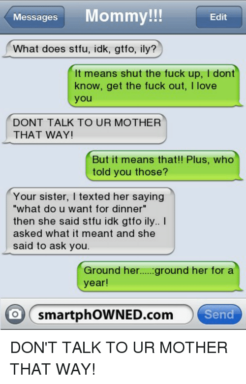what does stfu mean in text messages