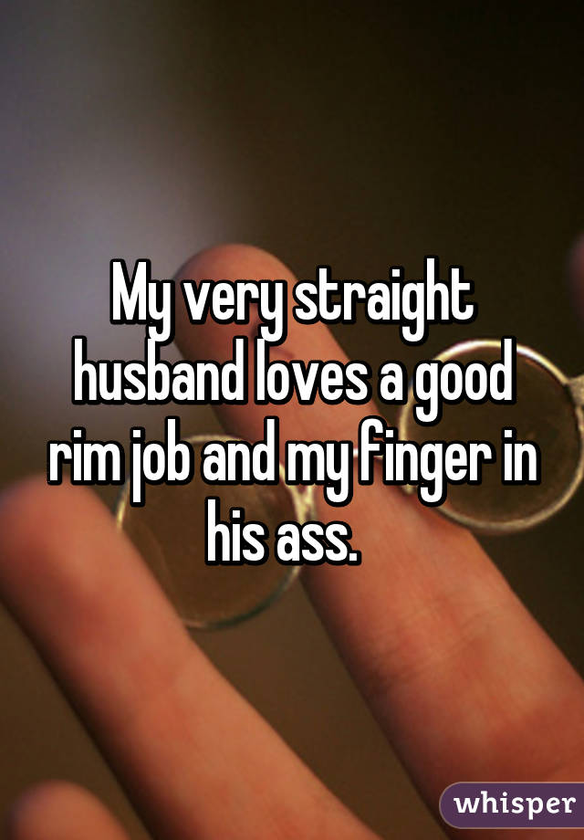 Finger in his ass