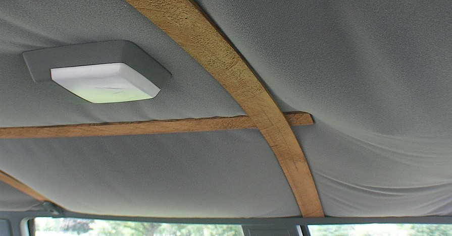 Fixing headliner in a car