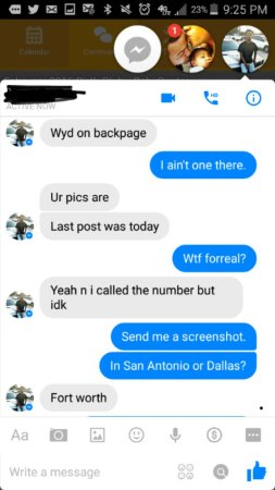 Fort worth backpage escort