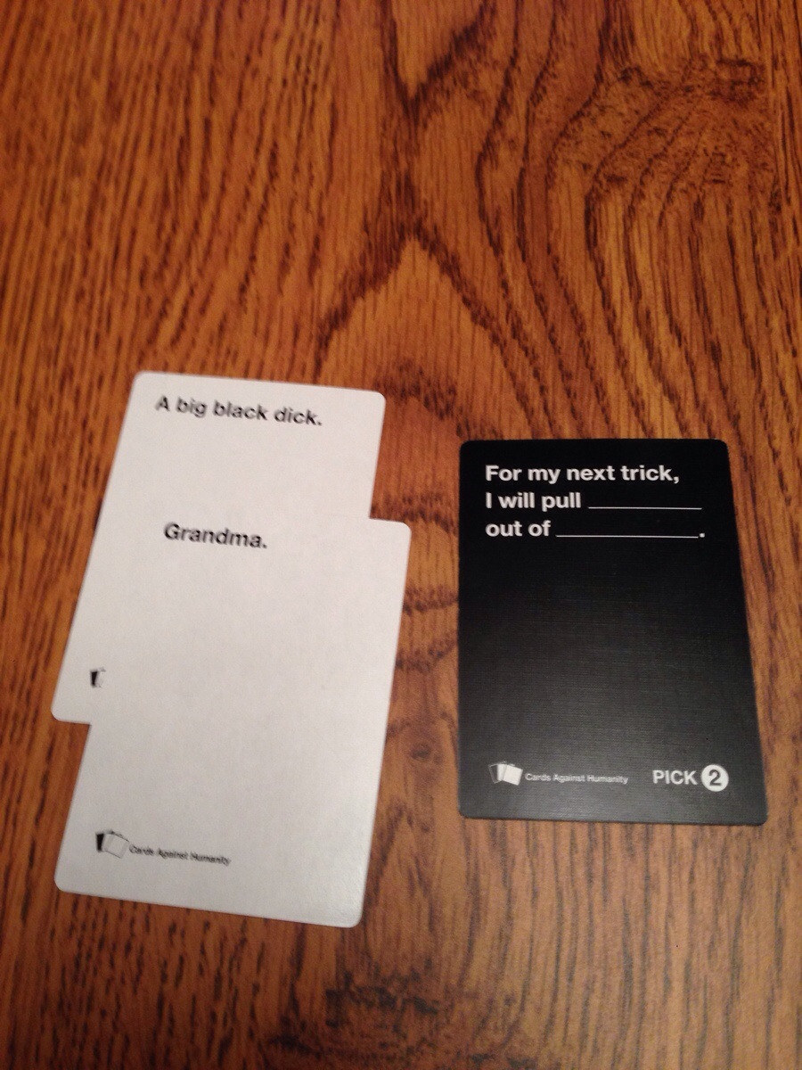 Funniest cards against humanity