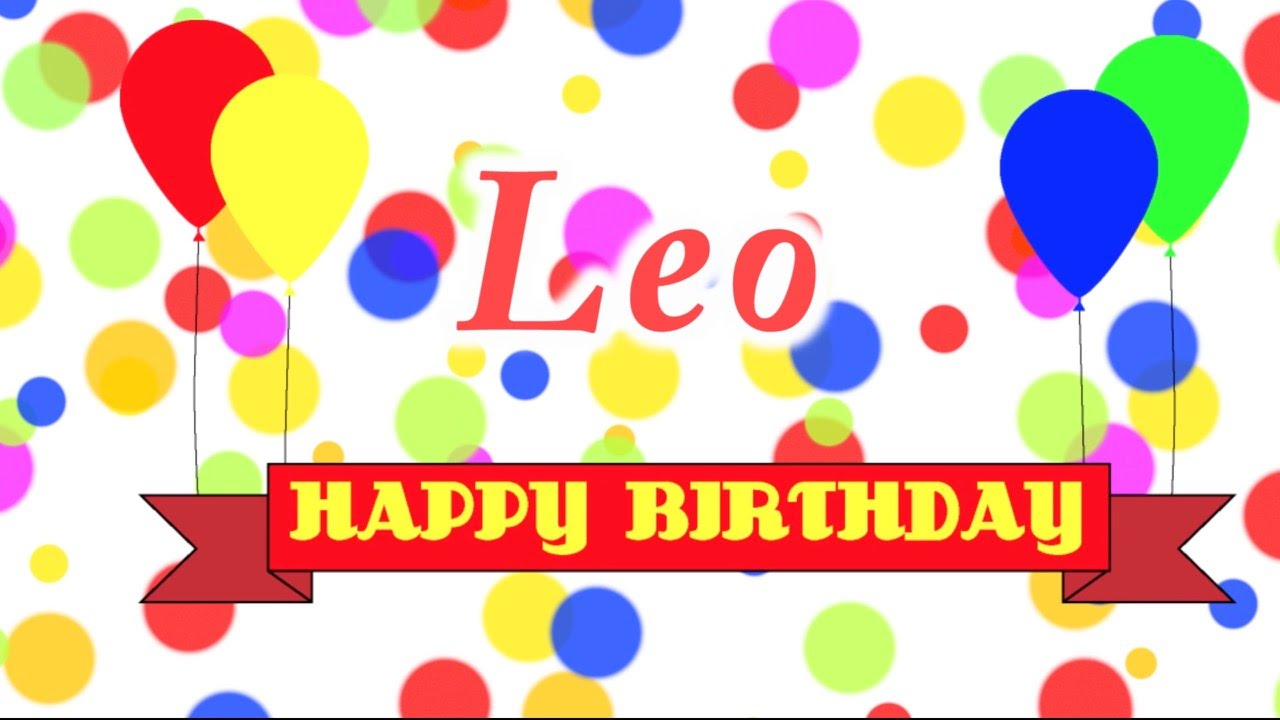 Happy birthday leo images