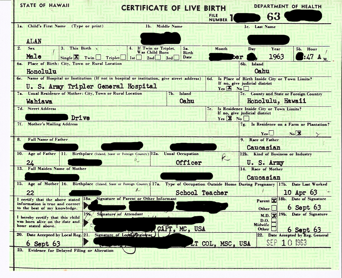 How Is Race Determined On Birth Certificate