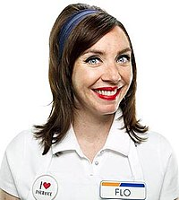 How long has flo been doing progressive commercials