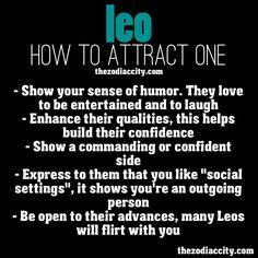 How to attract a leo