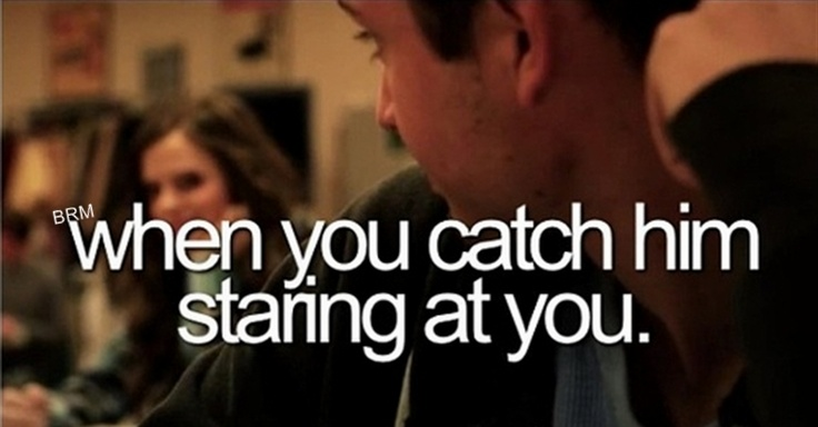 How to catch a guy staring at you
