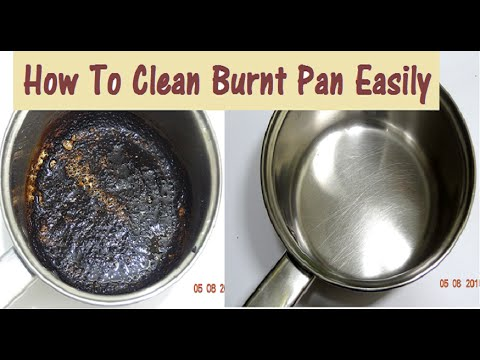 How to clean a burnt frying pan