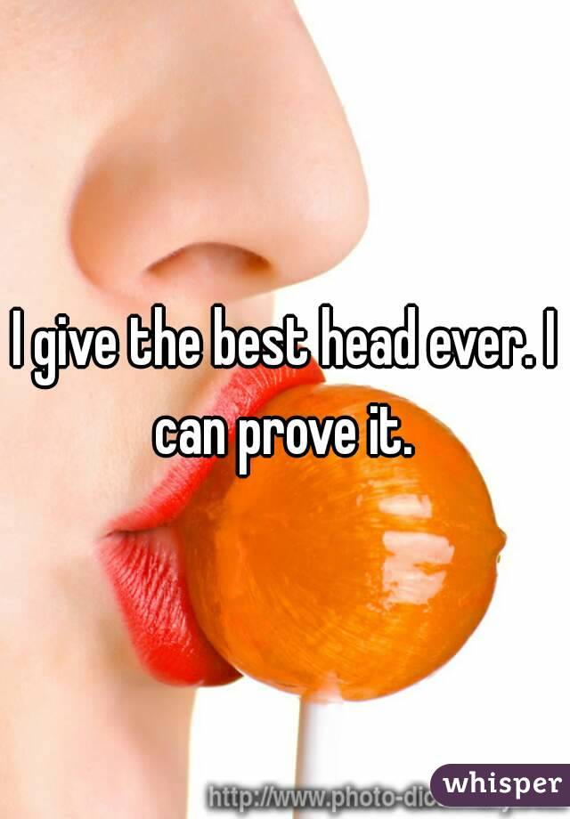 How to give the best head ever