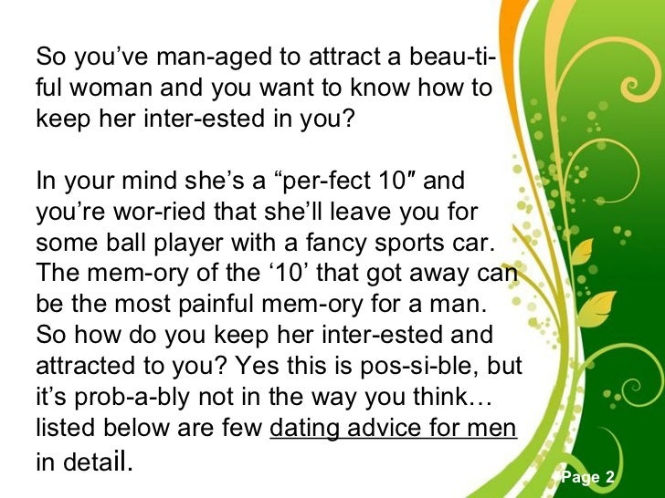 How to keep a woman interested