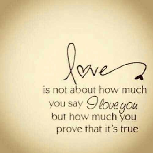 How to prove your love