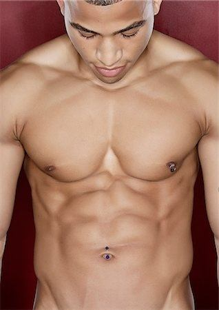 Male belly button rings