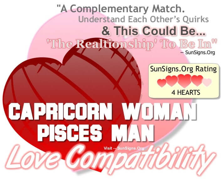 Pisces man capricorn woman sexually