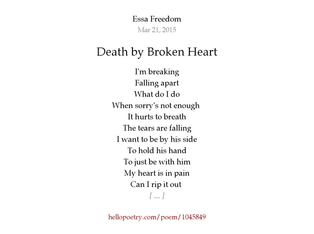 Poems about a broken heart