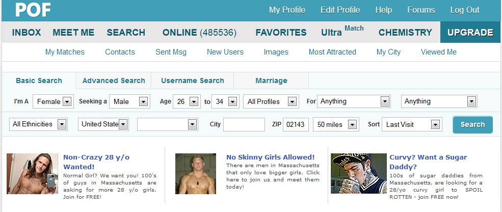 Pof deleted my profile