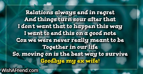 Regretting a break up years later
