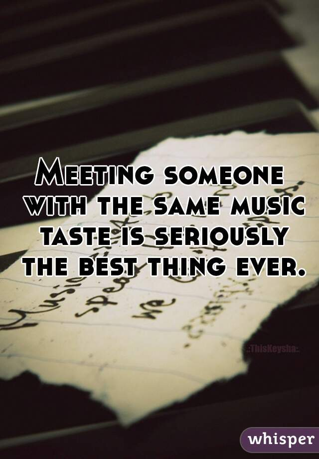 Songs about meeting someone new