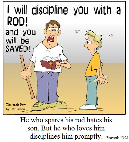 Spare the rod spoil the child bible verse