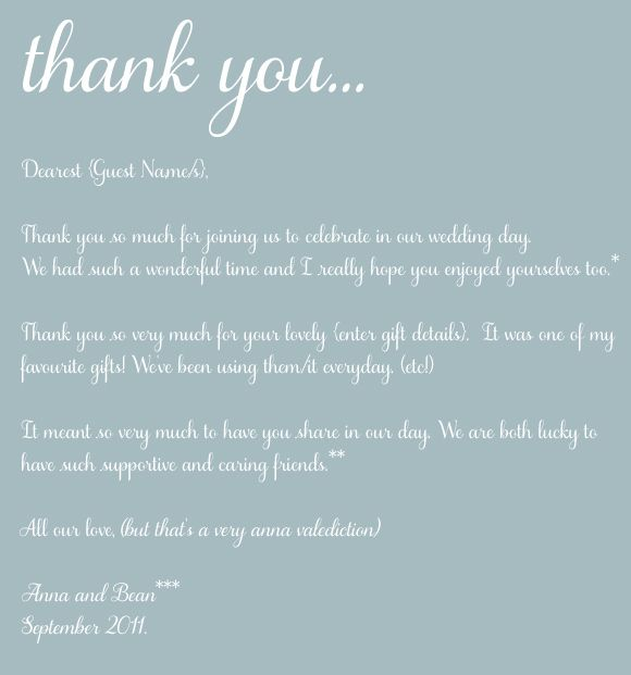 Thank you letter to mother in law on wedding day.