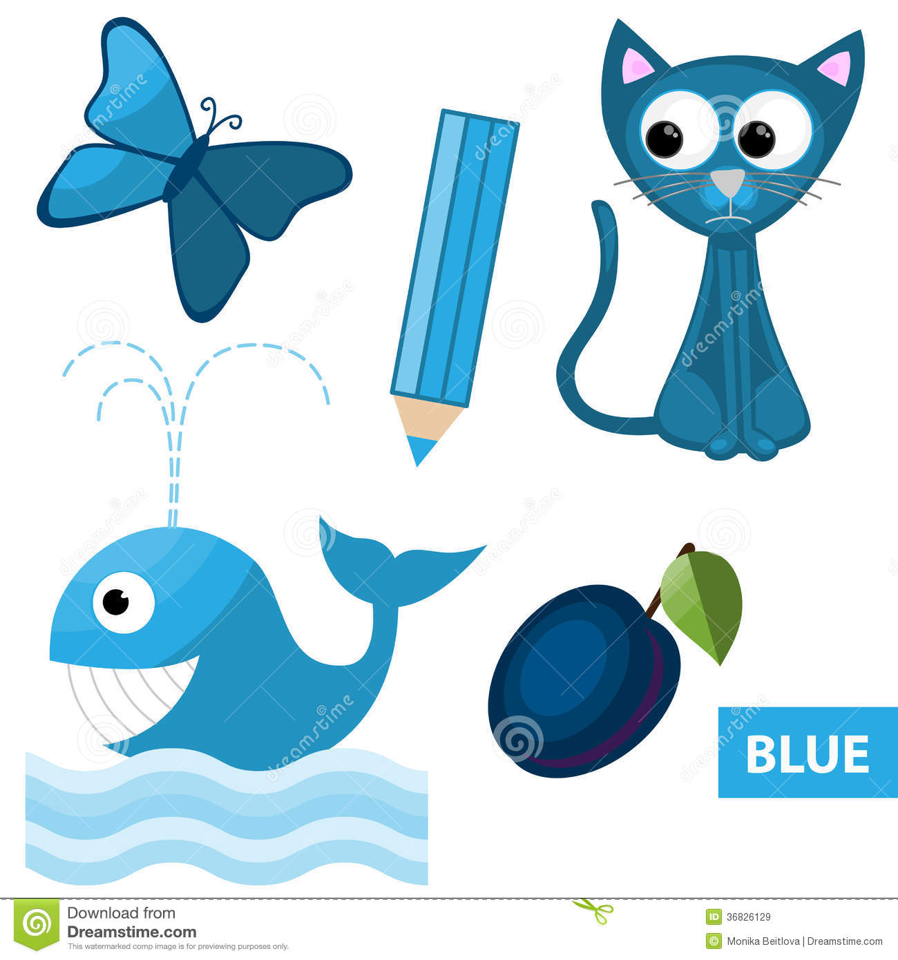 Things that color blue