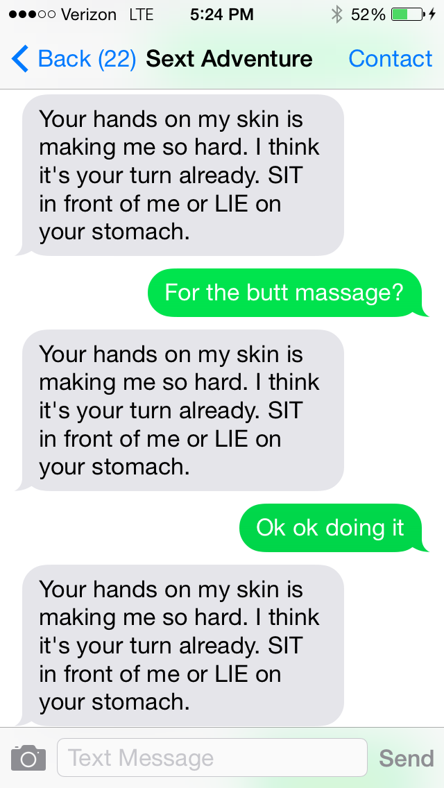 Things to say while sexting.