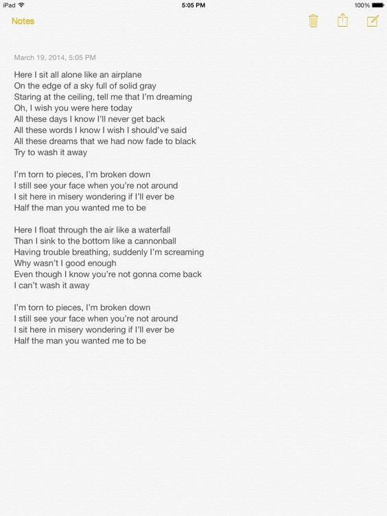 Torn to pieces lyrics