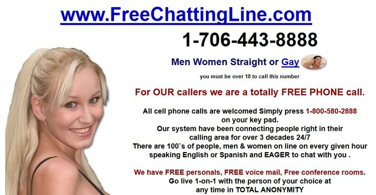 Totally free chat line numbers