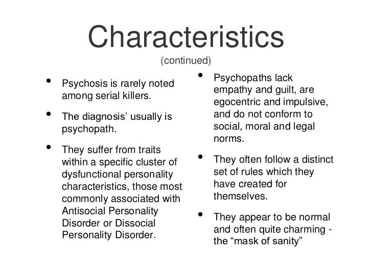 Traits of a sociopath male