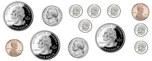 Two coins equal 30 cents
