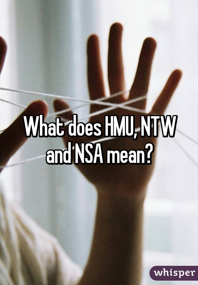 What does nsa mean in texting