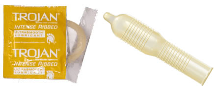What does ribbed condoms mean
