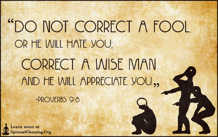 What does the bible say about fools