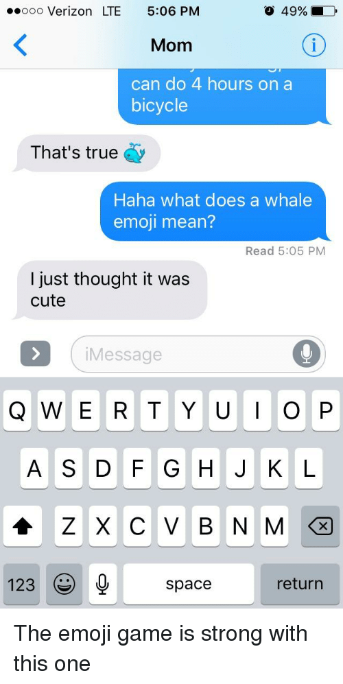 What does the whale emoji mean