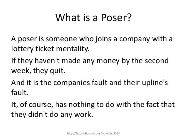 What is a poser