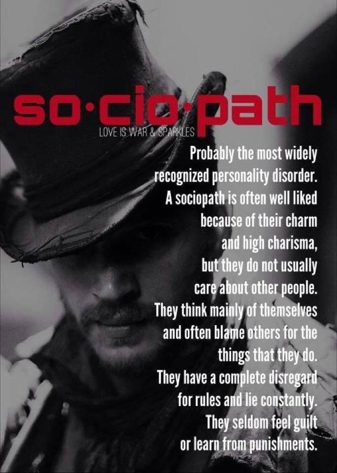 What is a sociopathic person