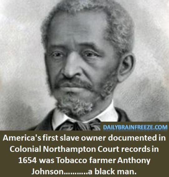 Who was the first black slave owner
