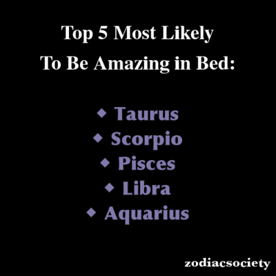 Zodiac signs best in bed